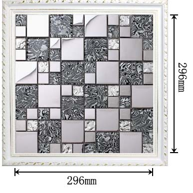 dimensions of the silver 304 stainless steel metal glass mosaic tile - 1941-1