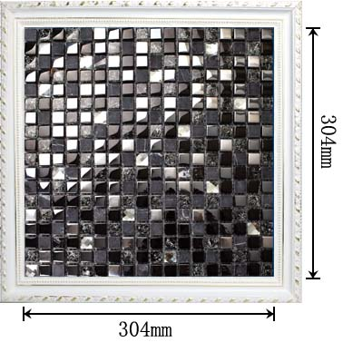 dimensions of the stainless steel metal crack glass stone mosaic tile - ks33