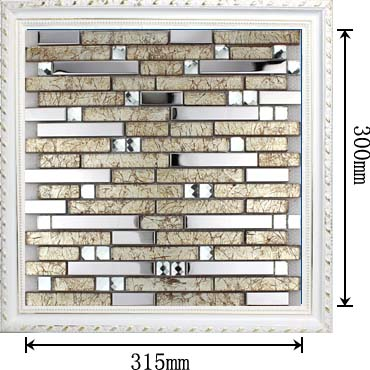 dimensions of the stainless steel metal glass mosaic tile - 1628