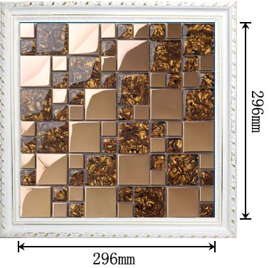 dimensions of the stainless steel metal glass blend mosaic tile - 1941