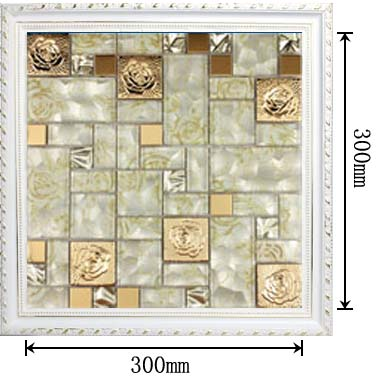 dimensions of the stainless steel metal glass blend mosaic tile - hc-141