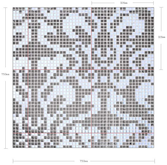 dimensions of the glass mosaic tile backsplash wall sticers - 2131