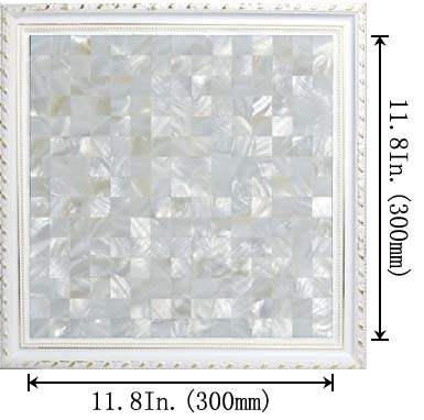dimensions size of the mother of pearl tile backsplash kitchen - st058