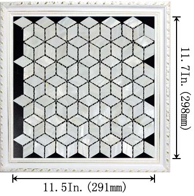dimensions size of the mother of pearl tile diamond mosaic shell tiles - st056