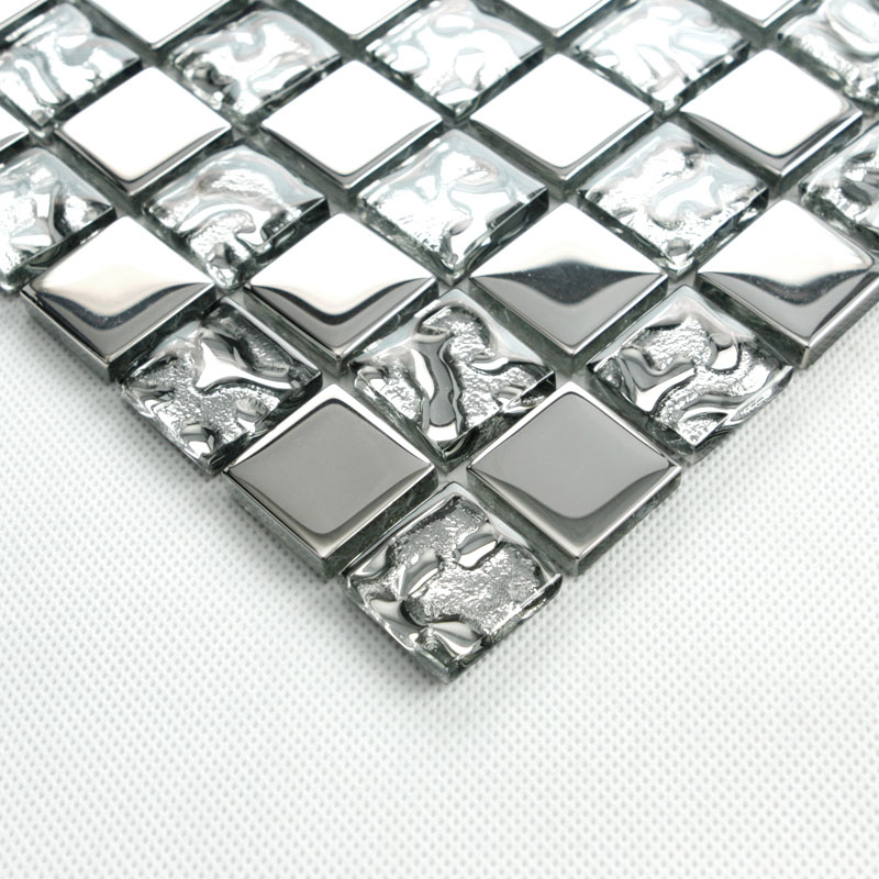 crystal glass tile vitreous mosaic wall plated tiles