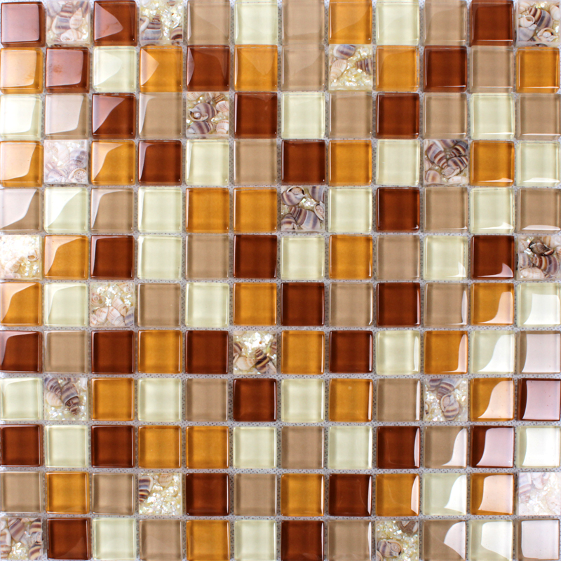 Kitchen Backsplash Orange conch tile backsplash bathroom wall tiles orange crystal glass