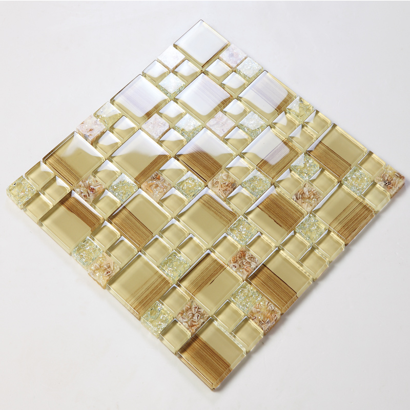 crystal glass tile diamond vitreous mosaic wall tiles