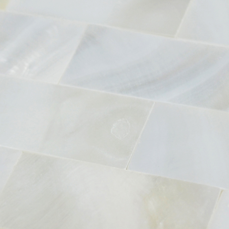 White Mother of Pearl Floor Tile Mosaic Seamless Subway Backsplash