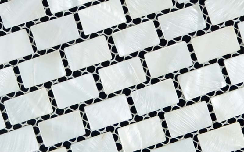 enlarged photo of the mother of pearl tile for swimming pool tile border - st054