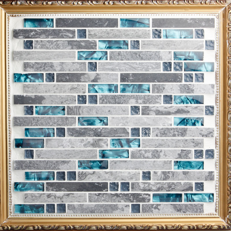 Grey Stone With Crystal Glass Mosaic Tile Backsplash Of Wall Stickers Washroom Bedroom Kitchen 9805