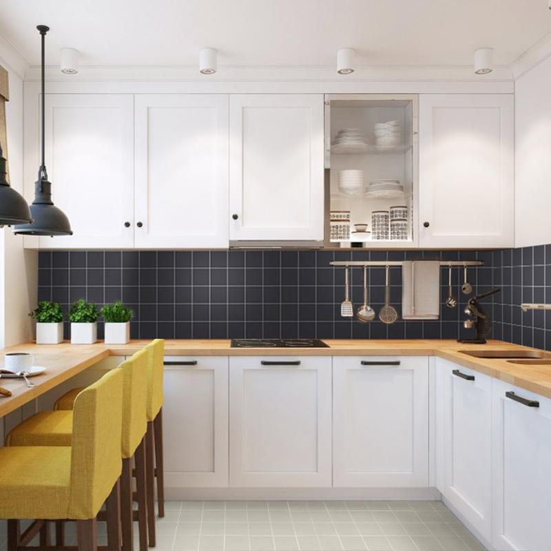 Kitchen Tiles Wall Design: Black Matte Porcelain Tile NON-SLIP Tile Washroom Shower Tile Kitchen Wall Backsplashes XMGTM01