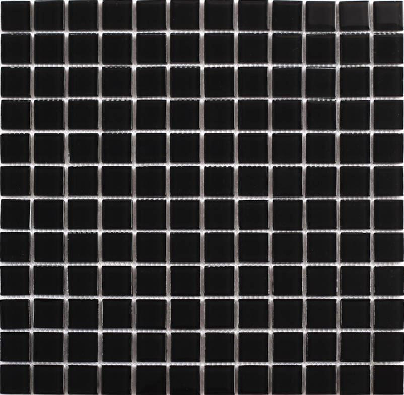 front of black crystal glass tile mosaic kitchen wall tiles stickers - sa061
