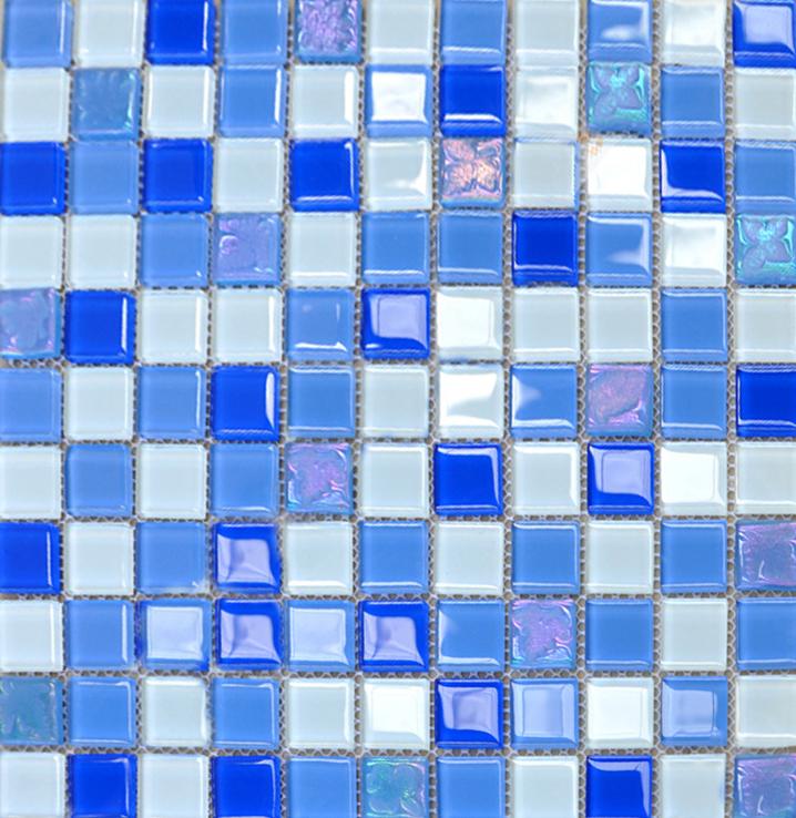 blue mosaic bathroom tiles | My Web Value
