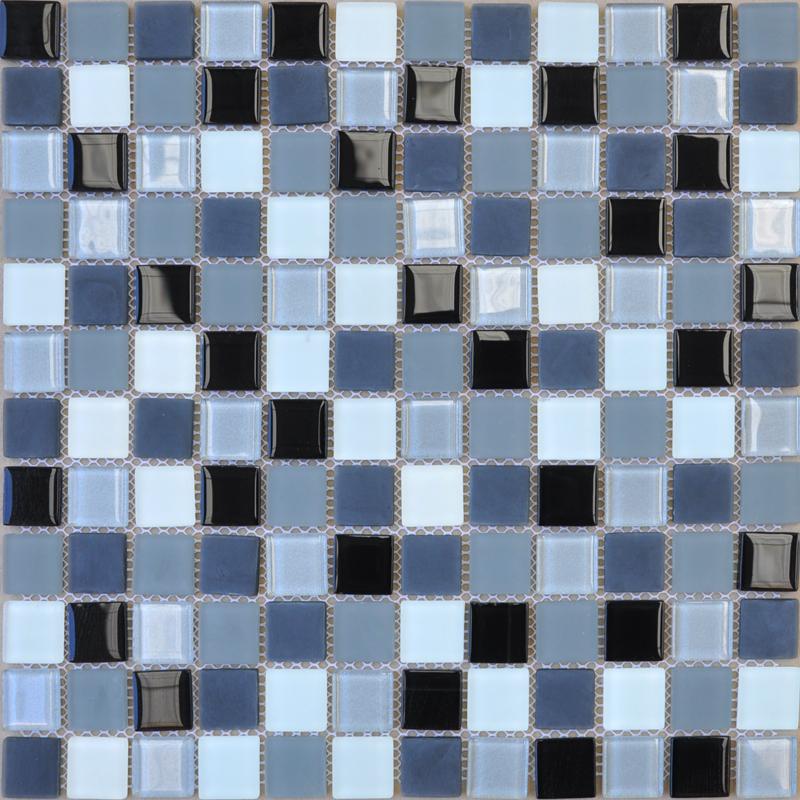 Wholesale pearl powder crystal glass mosaic tile for Washroom tiles design