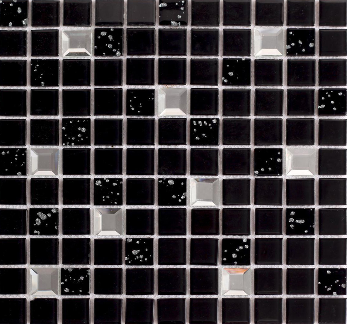 Wholesale black crystal glass mosaic tile washroom Mosaic tile wall designs