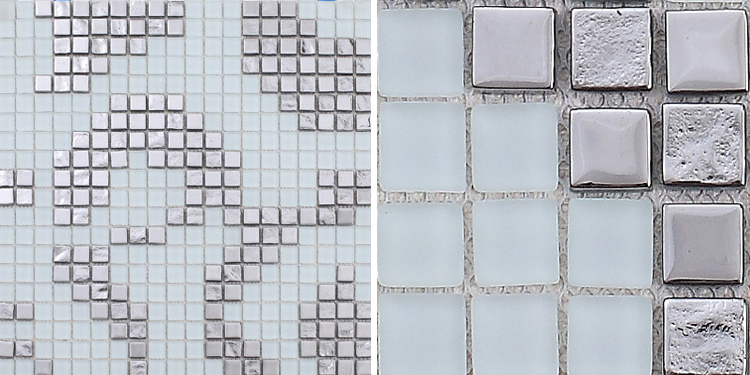 front side of the crystal glass mosaic tile for bathroom wall tiles - 2131