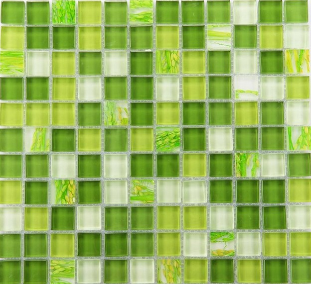 front of crystal glass tile green mosaic wall tiles -yf-mtlp22