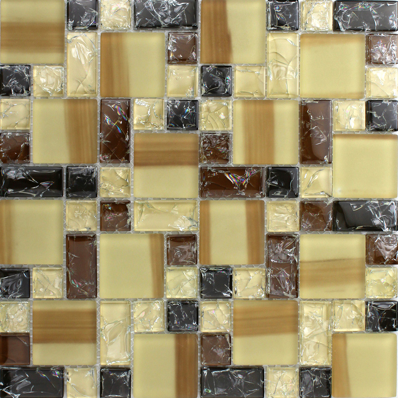 front of crystal glass tile vitreous mosaic wall tiles - kls381