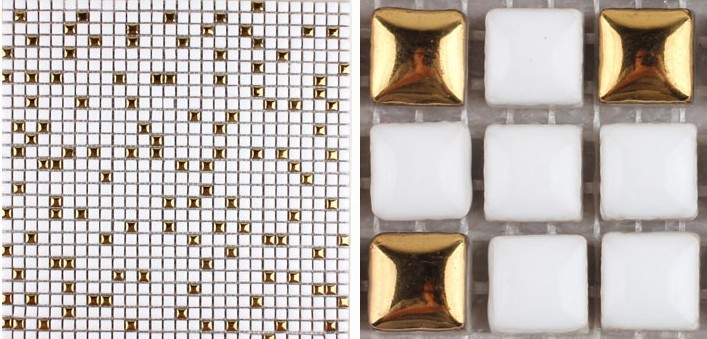 front side of glazed porcelain plated washroom tile - hb-m178