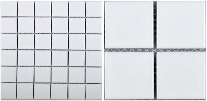 front side of glazed porcelain pool tile - hb-656