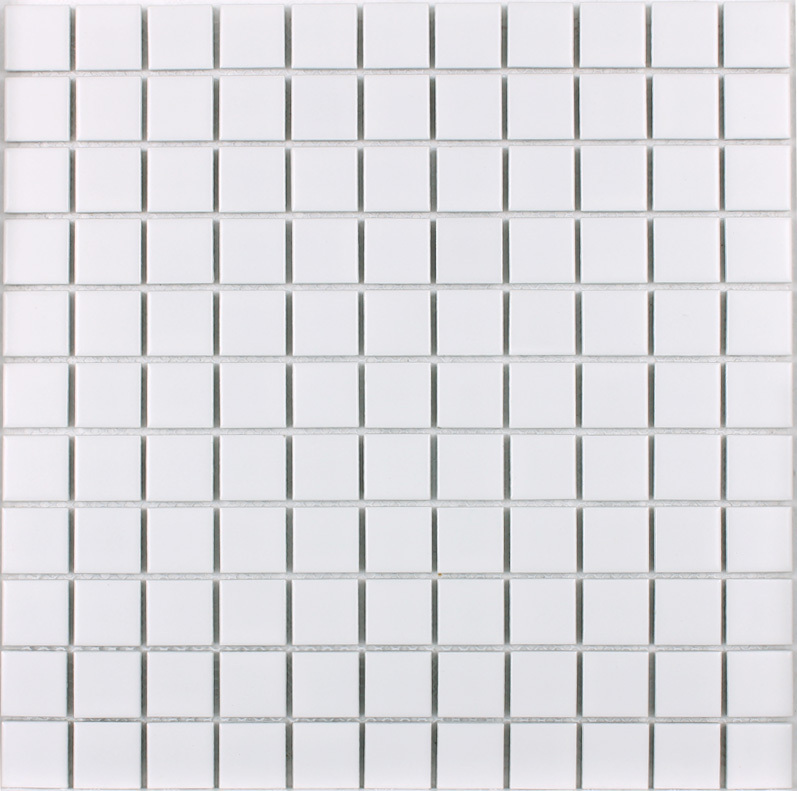 front side of glazed white porcelain pool tile - hb-002