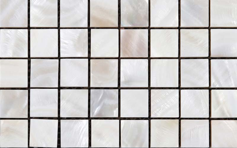 front side of mother of pearl shell mosaic wall  tile - st035