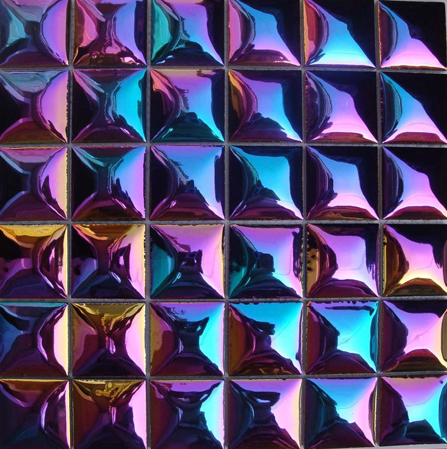 Wholesale Porcelain Tile Mosaic Iridencent Tiles Floor