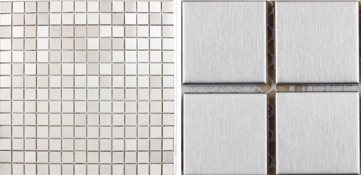front side of the metal tile stainless steel aluminum blend - HD-092