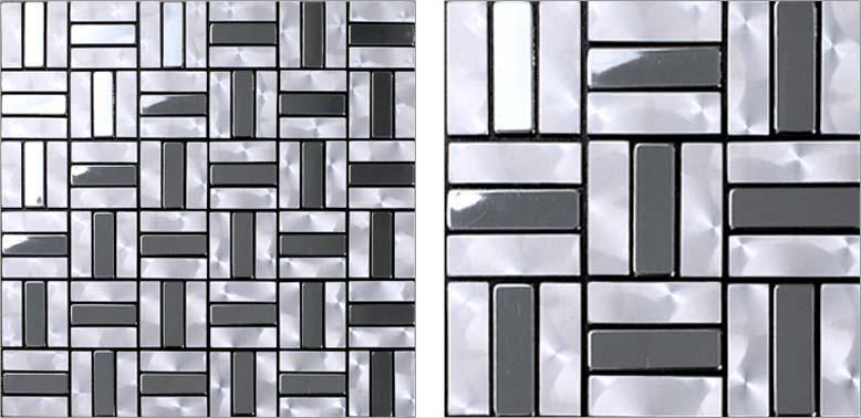 Wholesale Metallic Mosaic Tile Aluminum Panel Wall Stickers Strip