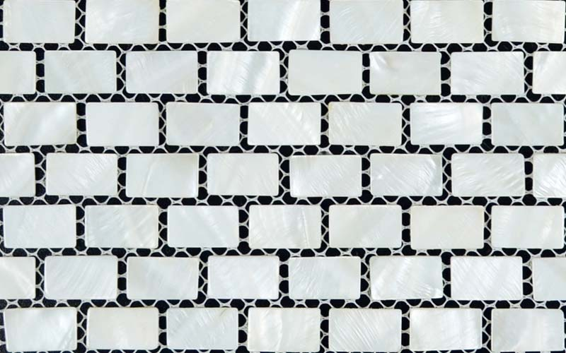 front side of the mother of pearl tile subway design decor mosaic - st054