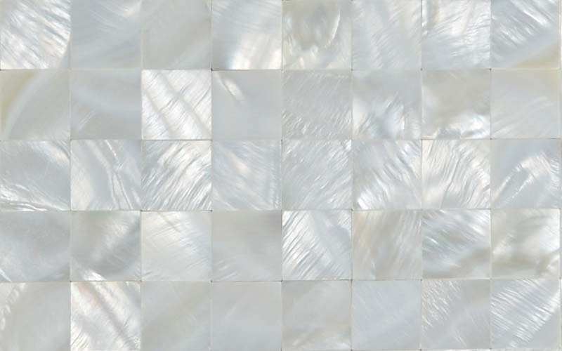 front side of the mother of pearl tile wall backsplash stickers - st058