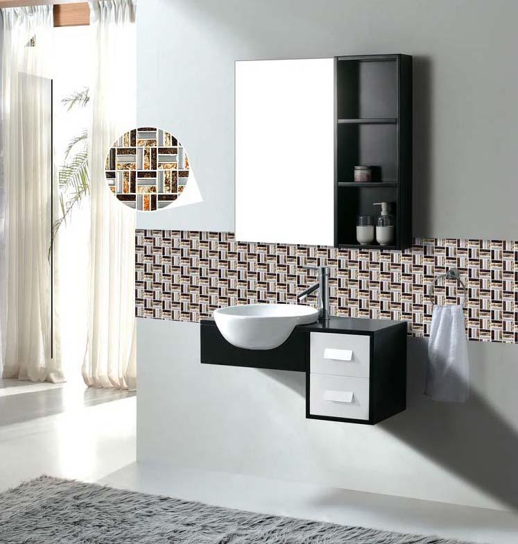 Bathroom wall tile strip