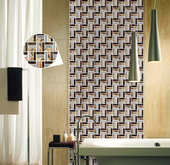 glass mosaic bathroom wall tile - d197