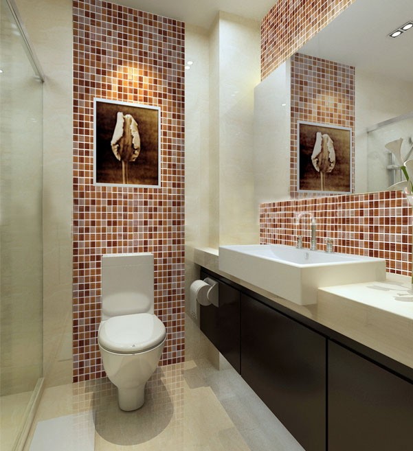 glass mosaic tile backsplash washroom wall stickers - hc-043