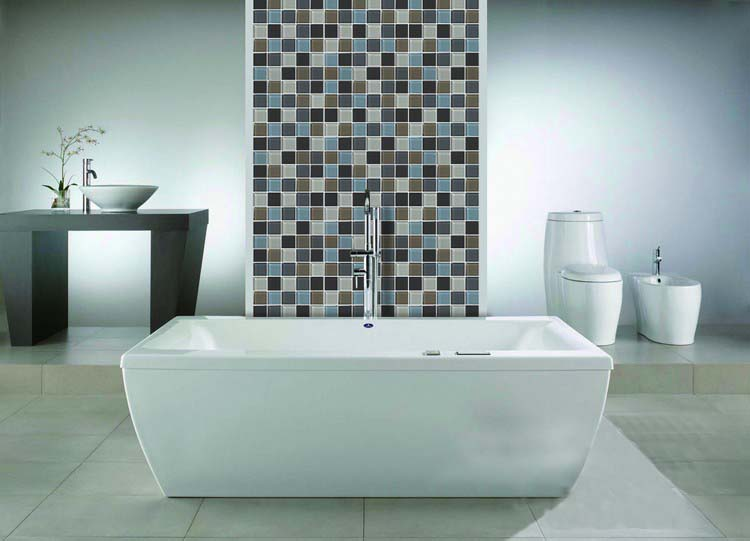 Wholesale Vitreous Mosaic Tile Crystal Glass Backsplash