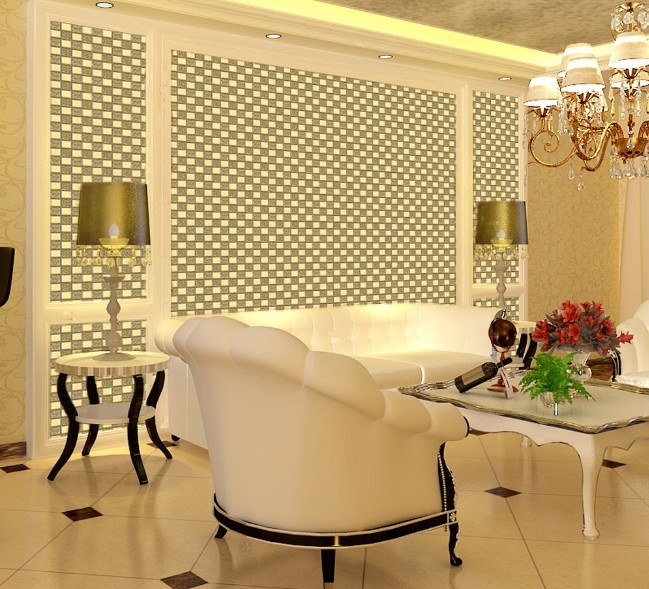 Wholesale mosaic tile crystal glass backsplash dining room for Dining room wall tiles designs