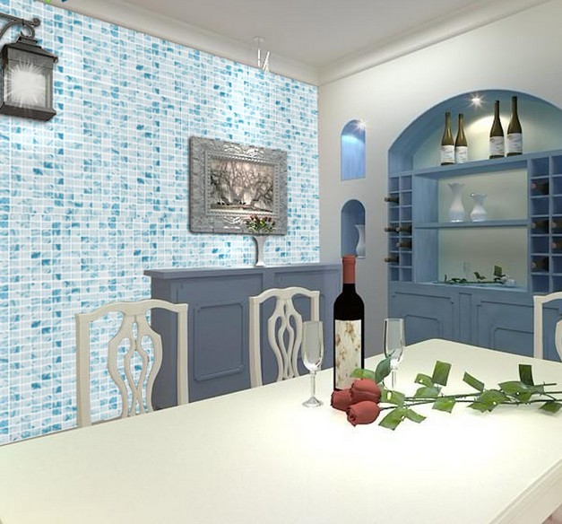 glass mosaic tile crystal backsplash dinner-room blue painted wall tiles -  yf-mwl29 - Wholesale Mosaic Tile Crystal Glass Backsplash Dinner Design