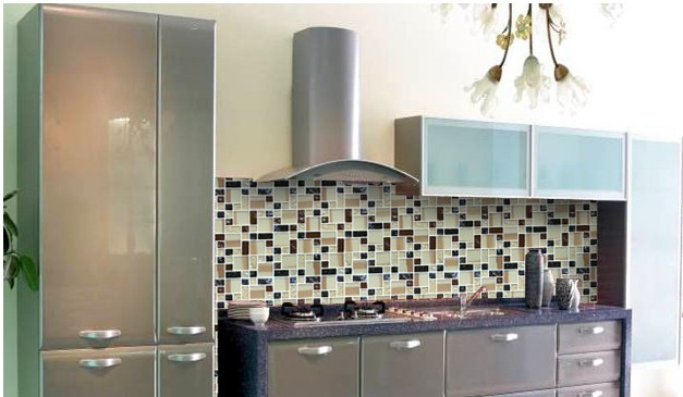Glass Mosaic Tile Crystal Ice Crack Backsplash Kitchen Wall Tiles   Kls381