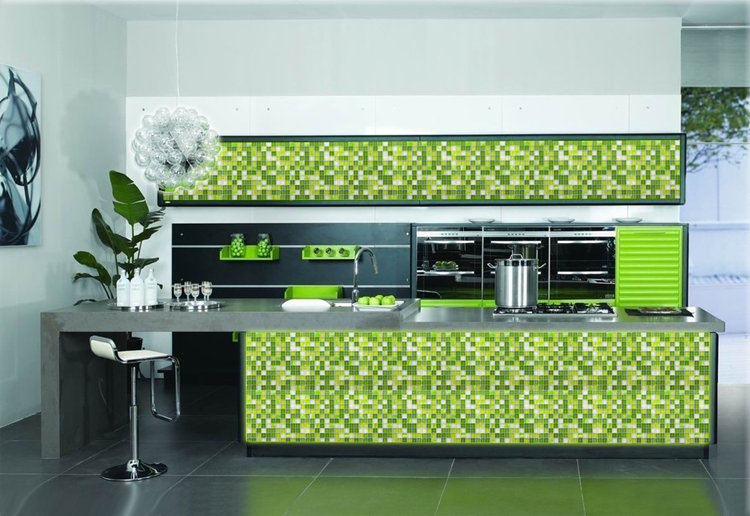 Glass Mosaic Tile Crystal Backsplash Kitchen Green Wall Tiles   Yf Mtlp22