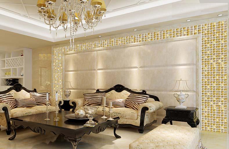 Crystal Glass Tile Backsplash Border Bathroom Gold Glass