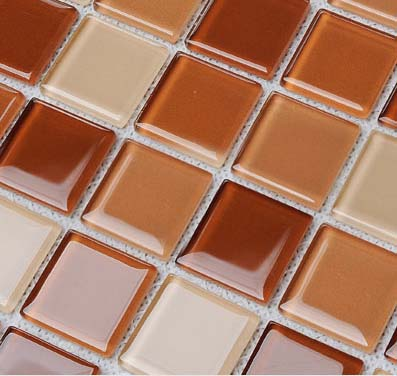 Wholesale Glass Mosaic for Swimming Pool Tile Sheet Brown Crystal ...