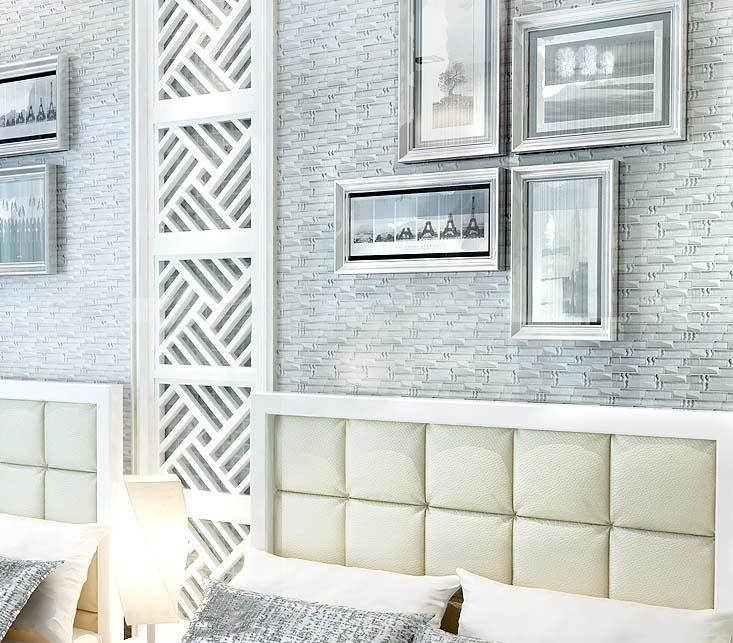 Bedroom Ideas Wall Tile: Metal Diamond Glass Mosaic Bath Wall Silver Stainless