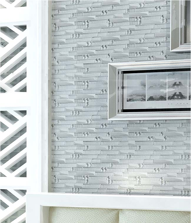 Metal Diamond Glass Mosaic Bath Wall Silver Stainless Steel Backsplash