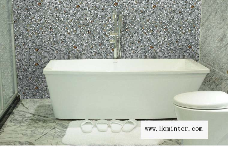 Amazing Glass Pebble Mosaic Tile Crystal Bathroom Shell Wall Tiles   619