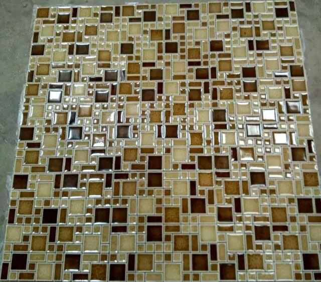 Glass Tile Interlocking Mosaic