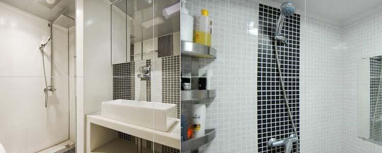 Mosaic Shower Wall Ideas: Wholesale Porcelain Floor Tile Mosaic White Square Brick