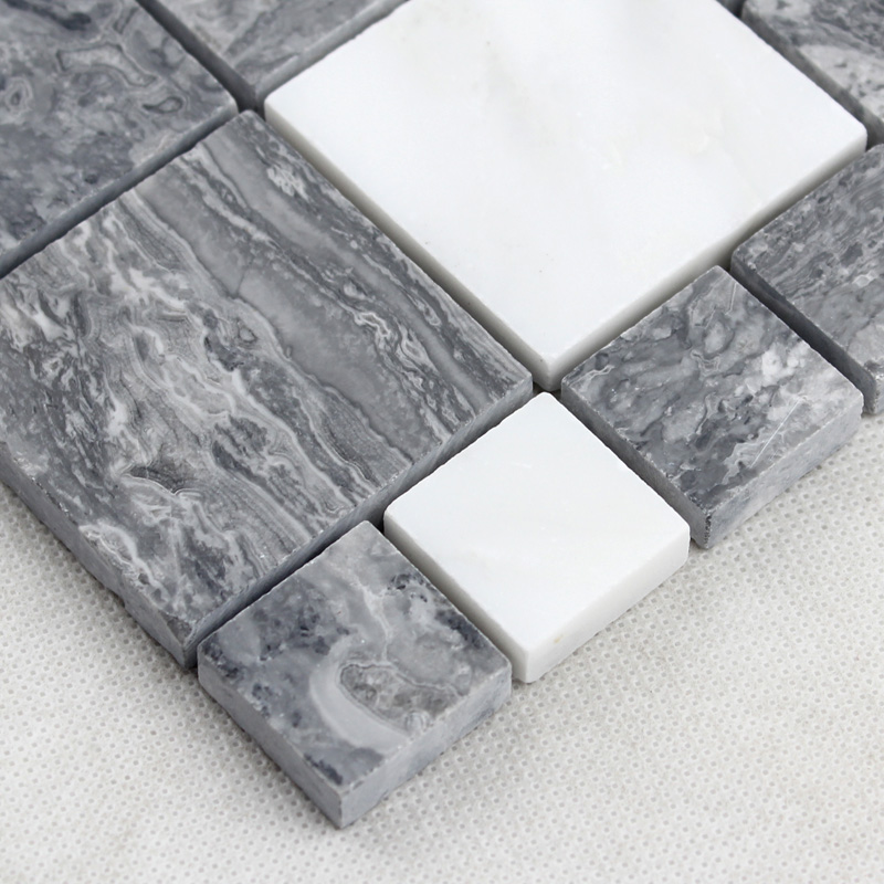grey stone glass mosaic tile wall stickers - t046