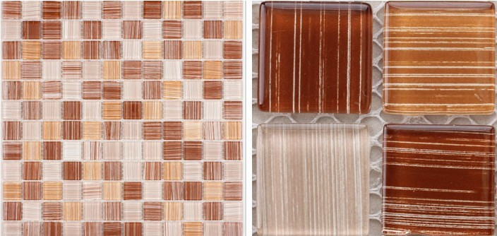 hand painted crystal glass mosaic wall tile - hc043