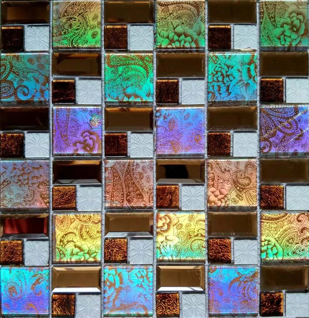 Iridescent Glass Tile Mosaic