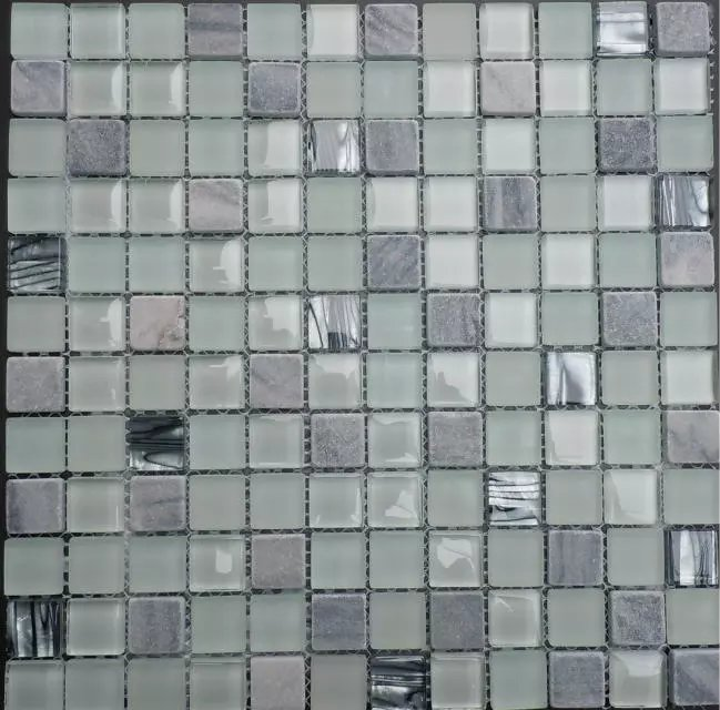 Iridescent Tile Stone Glass Mosaic